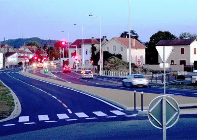 Mairie de Séméac - carrefour Robinson en 2020