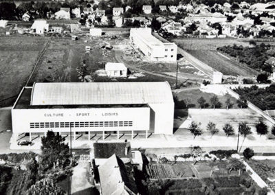 Mairie de Séméac - construction du groupe scolaire années 60