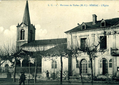 Mairie de Séméac - mairie église année 40