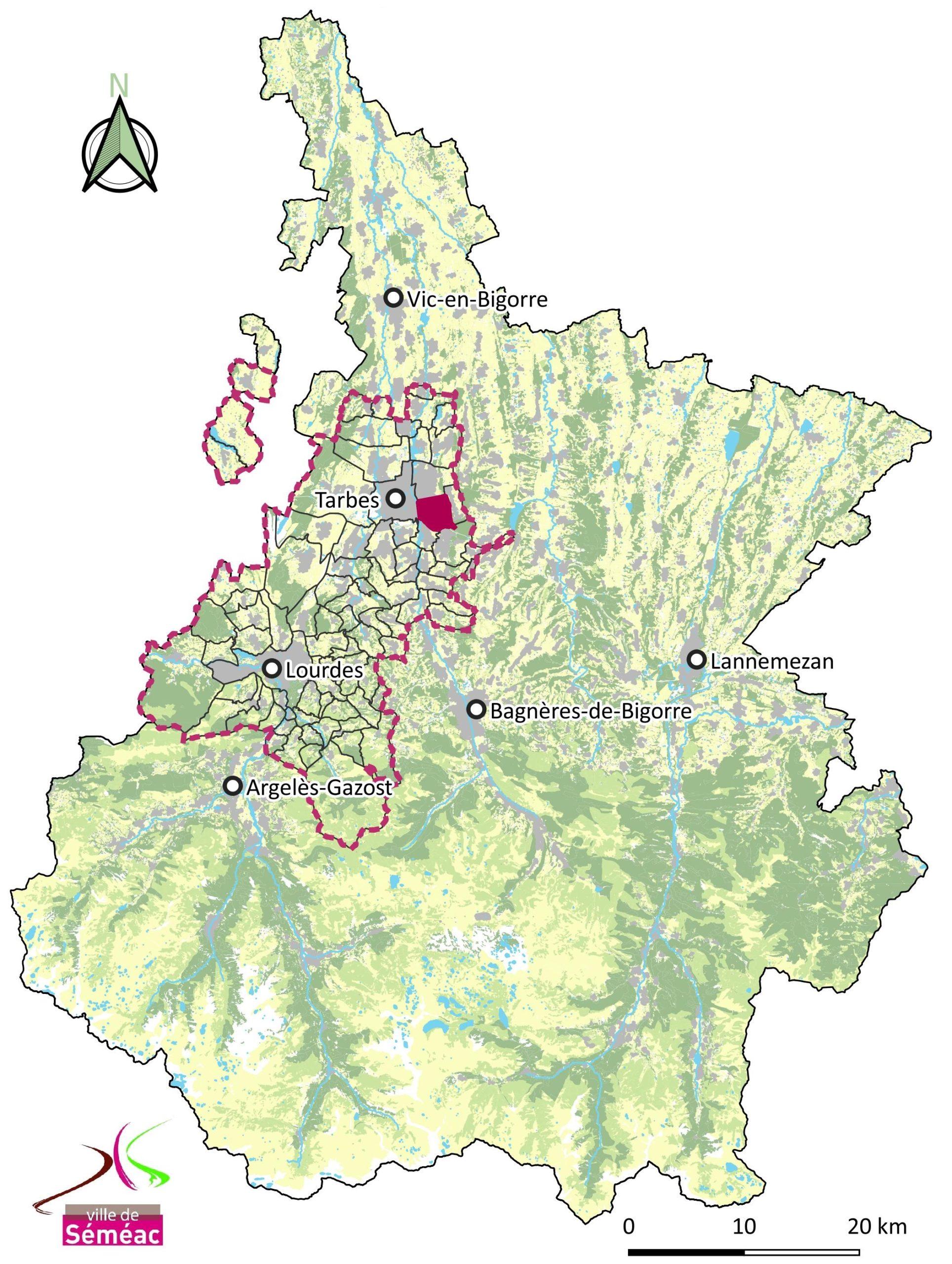 Ville de Séméac, Séméac et la CATLP